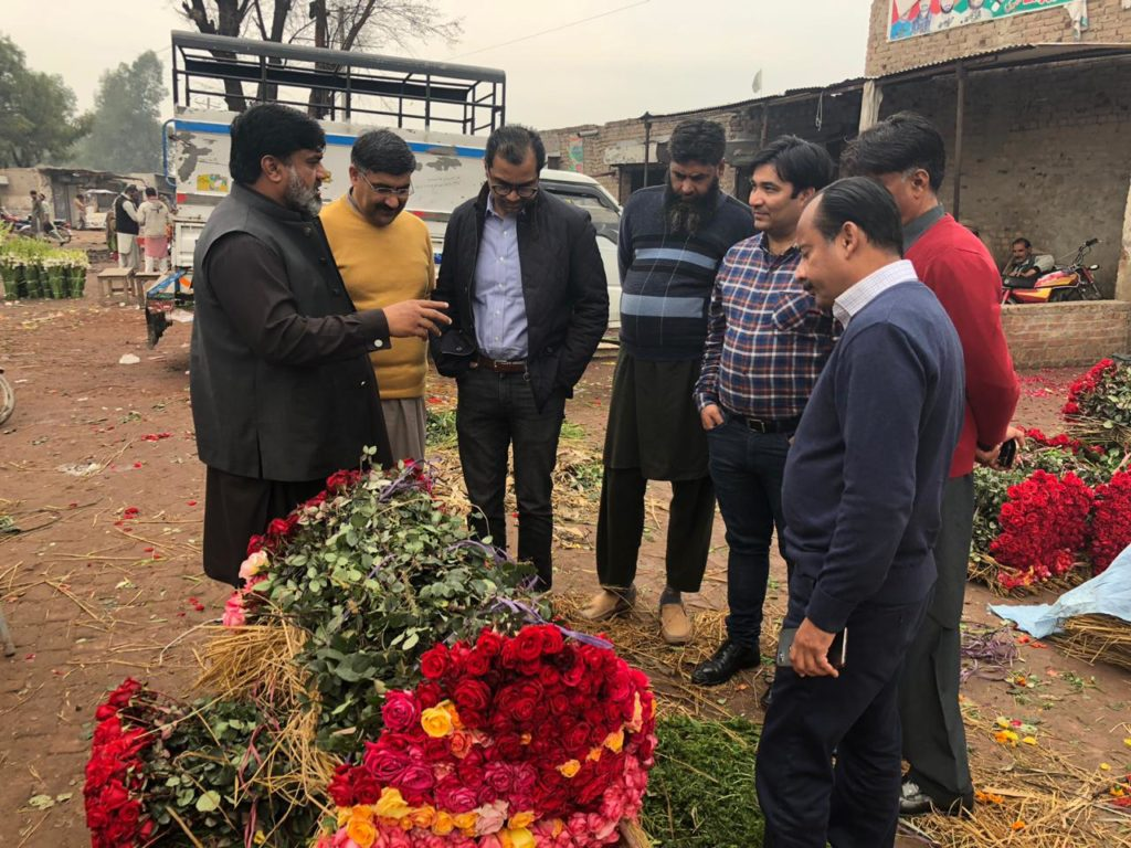 PMIC visit to Flower Market